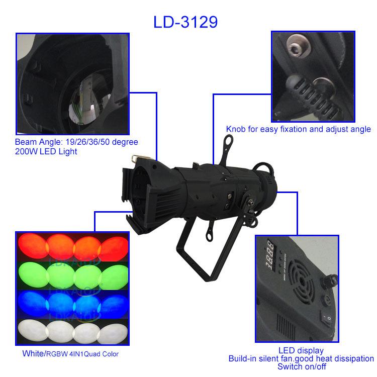 lights projector led profile LONGDI Brand gobo projector supplier