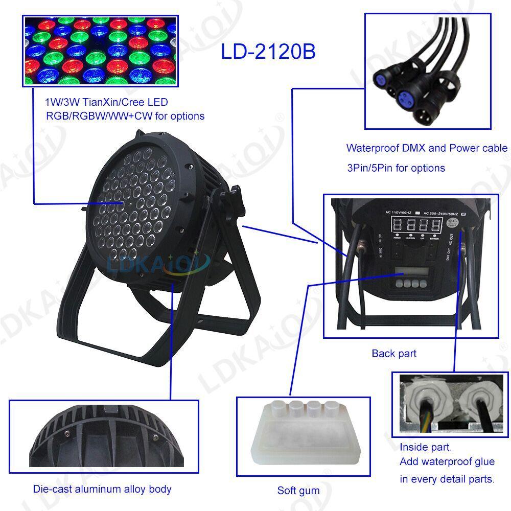 LONGDI Brand moving light waterproof par lights manufacture