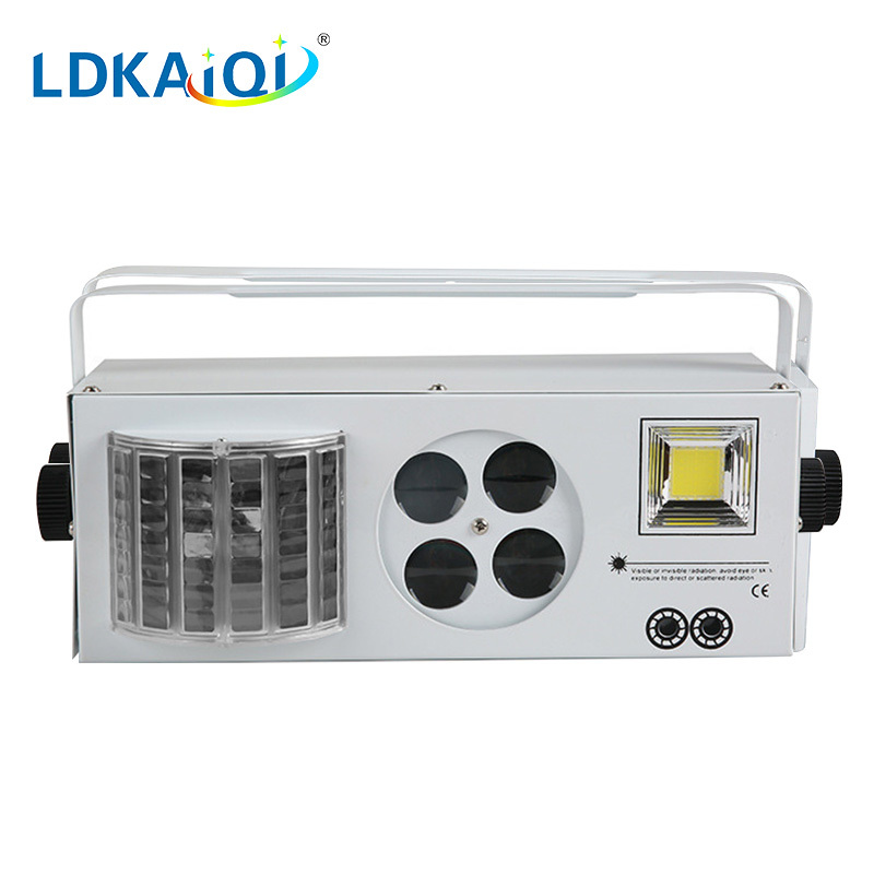 Led & Laser & Strobe &Gobos lights 4in1 effect light