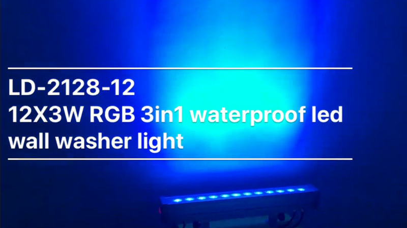 12X3W RGB 3in1 LED IP65 wall washer light  LD-2128-12