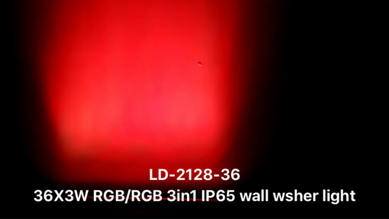 36X3W RGB/RGB 3in1 LED IP65 wall washer light  LD-2128-36