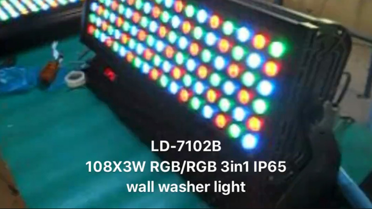 108X3W RGB LED IP65 wall washer light LD-7102B