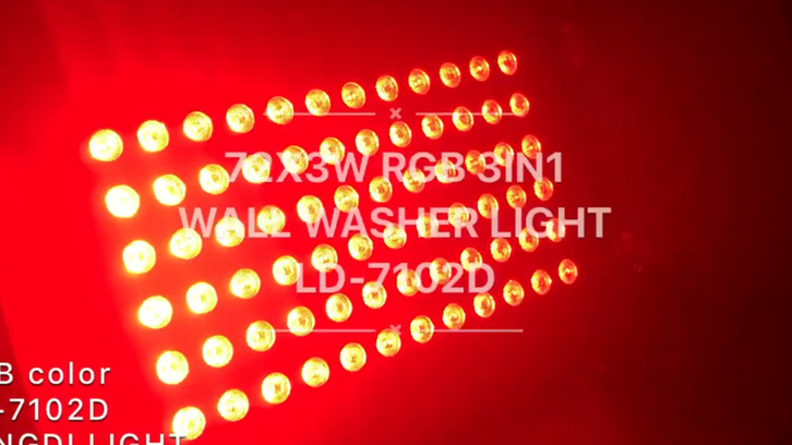 72X3W RGB 3in1 LED wall washer light with barn door LD-7102D