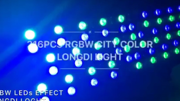 216X3W RGBW LED IP65 high power city color effect LD-7105-2