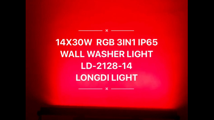 14X30W RGB 3in1 LED IP65 wall washer light LD-2128-14