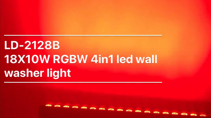 18X10W RGBW 4in1 LED wall washer light effect LD-2128B