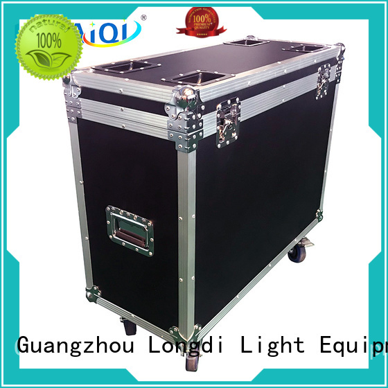 power Custom moving road case display LONGDI